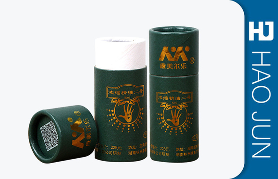 Custom Cosmetic Paper Boxes CMYK Printing Cylinder Paper Box For Eye Cream