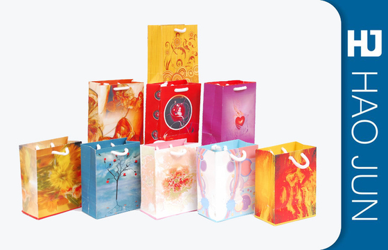 Custom Business Shopping Bags / Cardboard Packaging Gift Bags Cardboard Color