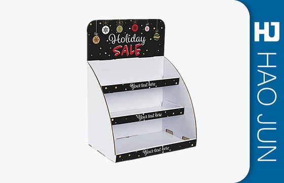 Custom Printed Cardboard Display Boxes For Christmas Gift , Glossy Lamination