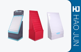 Gift Corrugated Pop Displays / Cardboard Retail Display Stands For Cards