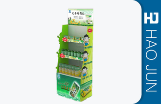 Luxury Beautiful Cardboard Display Stands For Medicine , Glossy Lamination