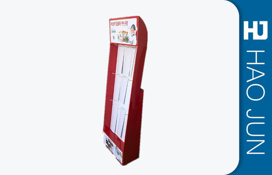 Promotional Cardboard Socks Display Stand Free Standing With Hook Ror Retail