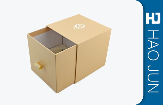 Champagned Color Logo Printing Paper Cardboard Candle Drawer Boxes