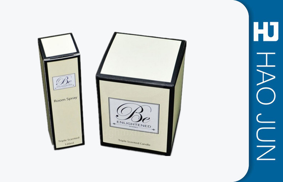 Custom Design Luxury Cardboard Paper Decorative Candle Boxes