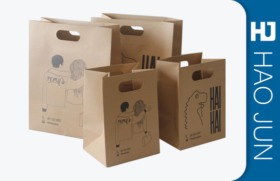 Professional Kraft Paper Gift Bags With Handles , Matt Lamination