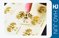 Plastic Custom Adhesive Stickers / Car Decal Stickers Golden Foil Color