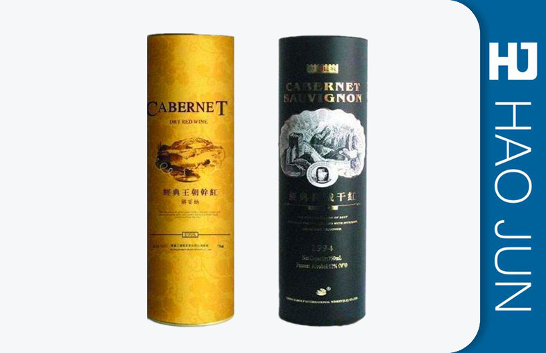 Luxury Personalized Wine Gift Box / Cylinder Wine Bottle Packaging