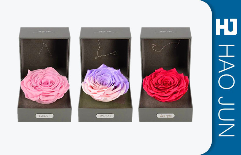 High Quality New Design Luxury Cardboard Flower Boxes Round Packaging Box