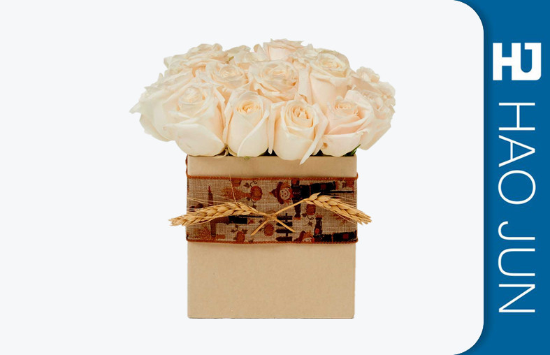 Luxury Custom Printing Design Cardboard Round Flower Boxes With Good Quality