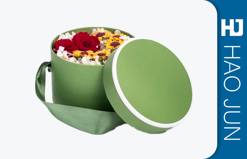 Wholesale Beautiful Round Cylinder Cardboard Paper Flower Gift Box