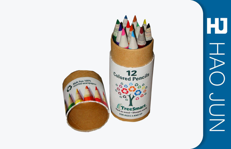 Personalized Printed Cardboard Tubes For Color Pen , Glossy Lamination Surface