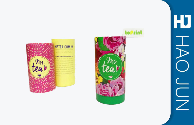 Custom Round Printed Cardboard Tubes Packaging With Recycled Materials