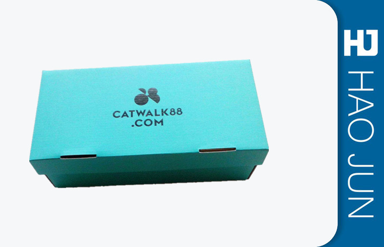 Foldable Cardboard Shoe Boxes Corrosion Resistant With Glossy Lamination