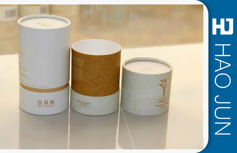 Recyclable Printed Cardboard Tubes , Paper Cylinder Packaging Boxes