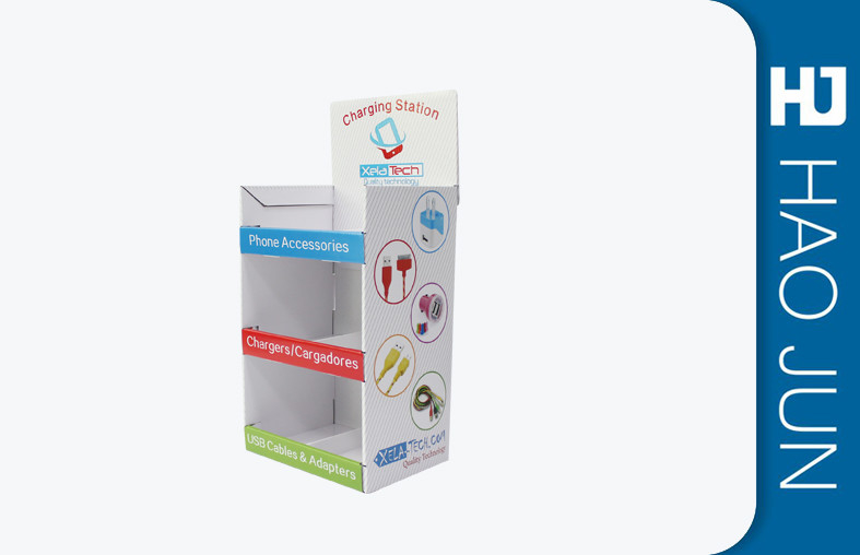 Promotional Retail Display Boxes Cardboard For Phone Accessories Size Customized