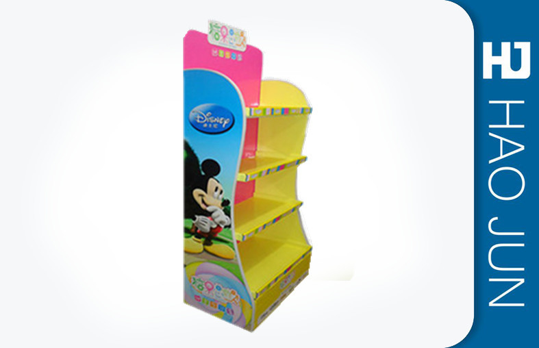 Cardboard Table Display Stands With 4 Shelves / Cardboard Point Of Sale Stands