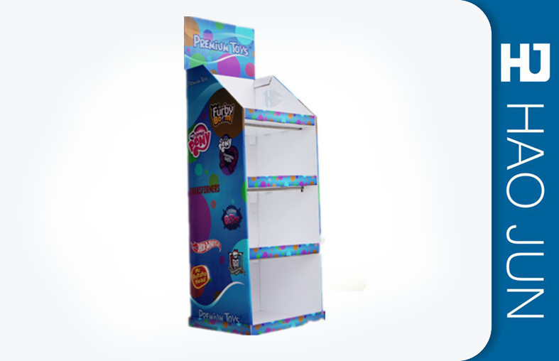 Offset Printing Cardboard Product Display Stands / Cardboard Display Shelves