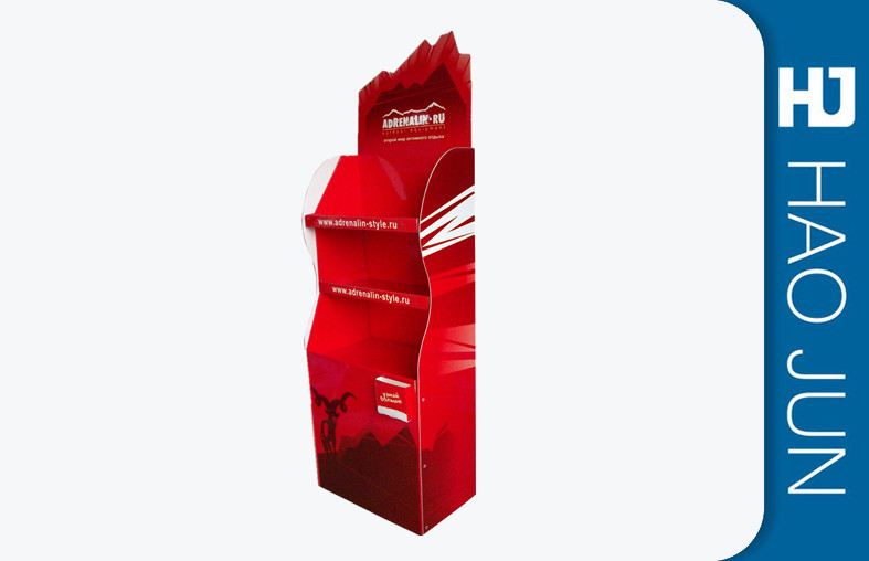Food Cardboard Display Stands Stand Up For Retail Store , Sample Available