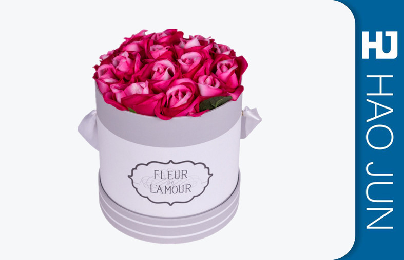 Eco Firendly Cardboard Flower Boxes / Recyclable Florist Rose Boxes