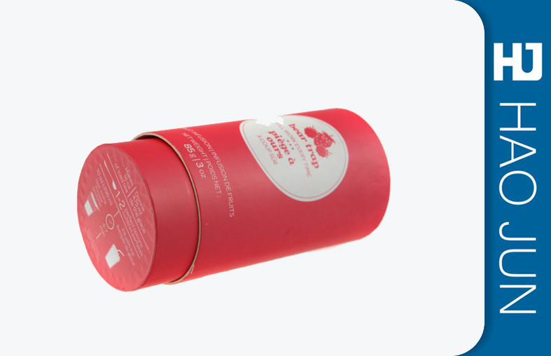 Paper Packaging Printed Cardboard Tubes For Dry Fruit In Red , Logo Customized
