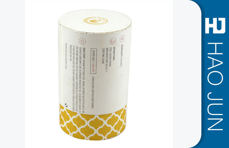 Fashionable Thick Cardboard Wrapping Paper Tubes With Silk Printing