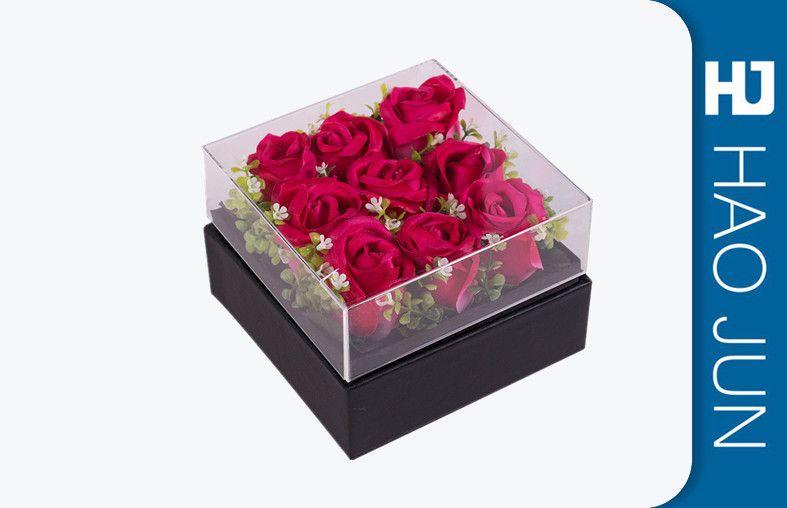 Florist Flower Boxes , Square Flower Packing Boxes With CMYK / PMS Color