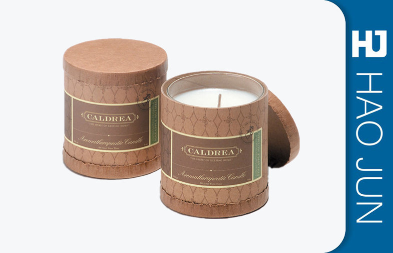 Custom Logo Design Packaging Cylinder Round Cardboard Boxes For Candle