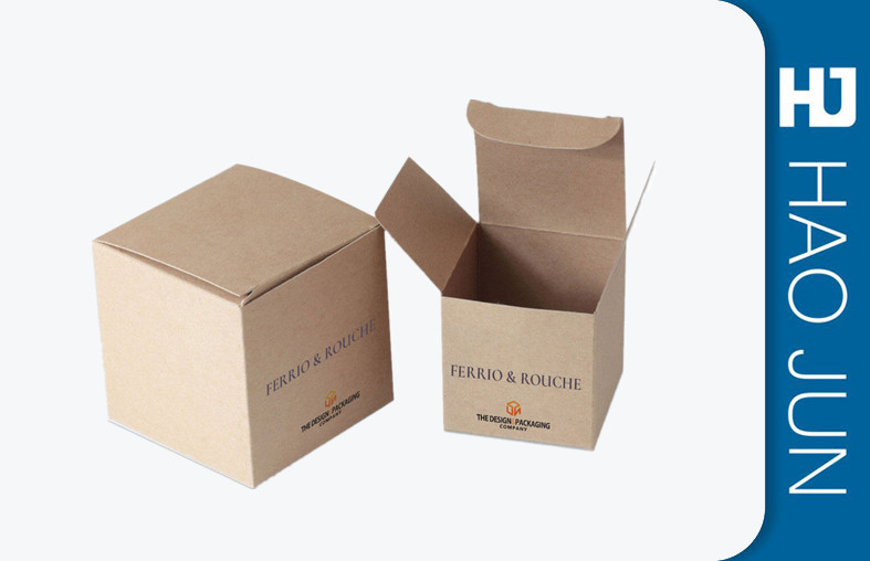 Custom Design Brown Color Environmental Craft Cardboard Candle Boxes