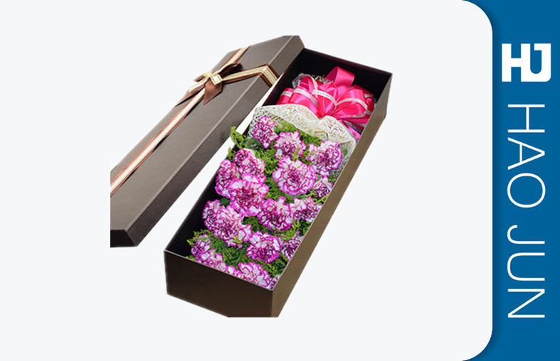 High End Flower Bouquet Delivery Boxes / Fashionable Cardboard Rose Boxes