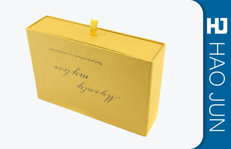 Drawer Style Cosmetic Paper Boxes For Promotion , Rectangle Shape