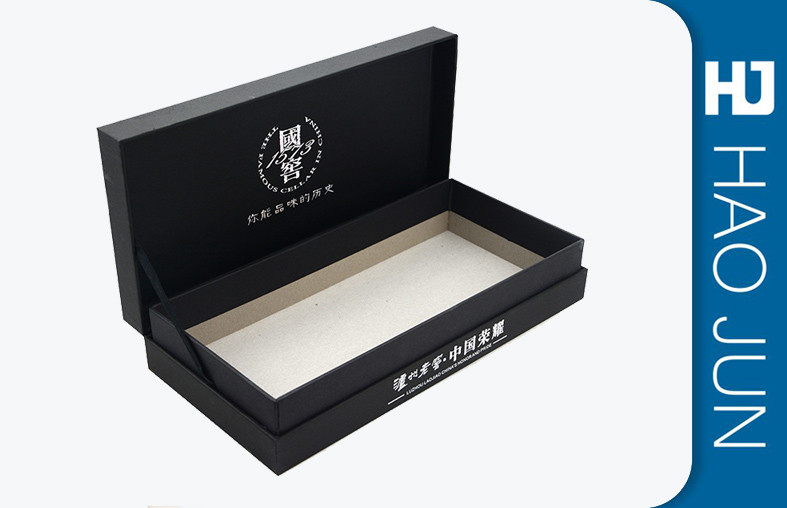 Promotional Black Wine Glass Gift Box With Lids Luxury Packaging Boxes