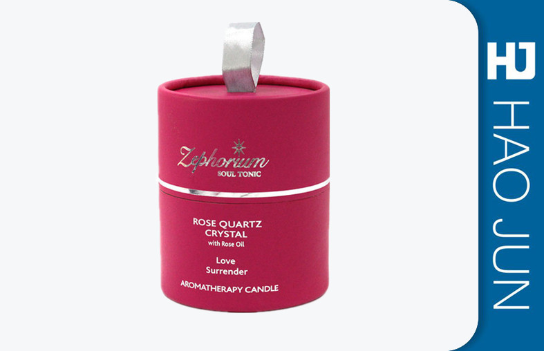 Red Cylinder Retail Candle Boxes Matte Lamination For Gift Package