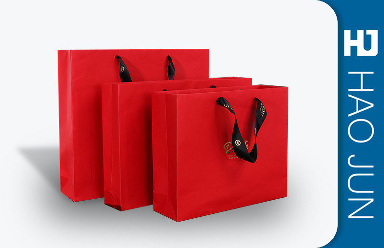 Recycled Cardboard Shopping Bags With Handle , Kraft / Coating Paper