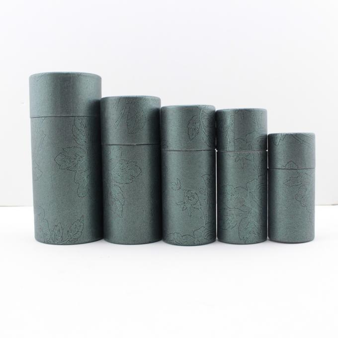 High Quality Black Cylinder Box Cardboard Flower Boxes with Customized Size