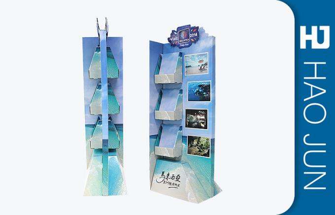 OEM/ODM Eco-Friendly Cardboard Display Stands In Red With Long Hooks For Promotion