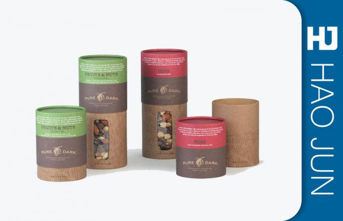 Fancy Logo Printed Cardboard Tubes With PP Ropes , Eco - Friendly