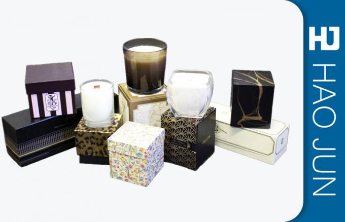 Customized Cardboard Gift Boxes , Recyclable Paper Candle Box