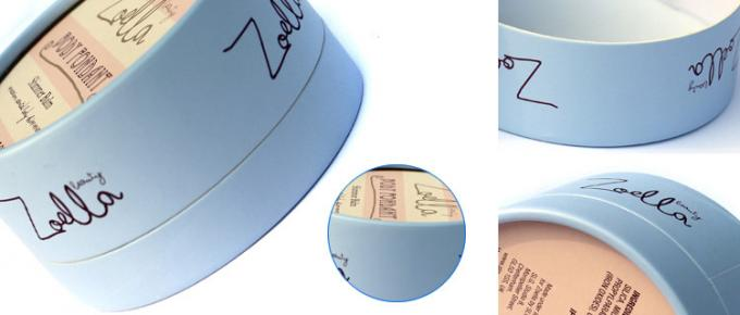 Cylinder Cosmetic Paper Boxes Matt Lamination For Skin Care , Color Customized