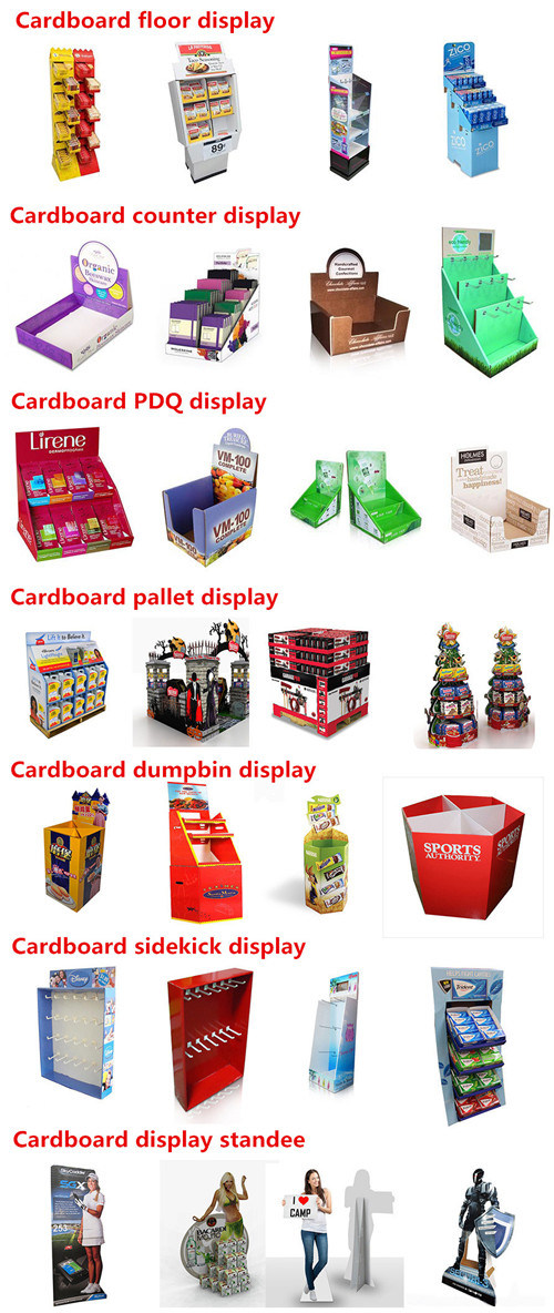 Makeup Cosmetic Display Counter, Cosmetics PDQ Counter Display, Cardboard Display with Cmyk Printing