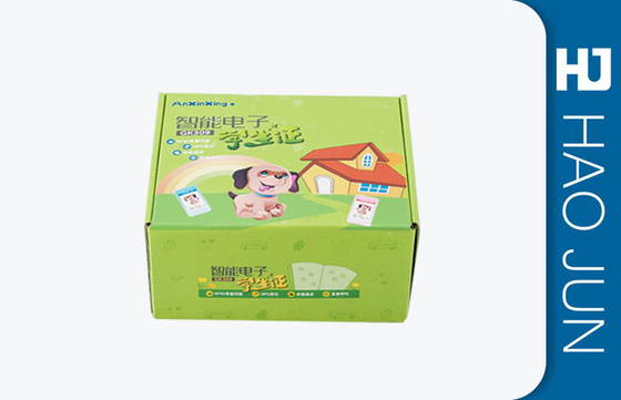 China Custom Green Packaging Cardboard Box For Supermarket ,  Varnishing / Glossy Surface factory