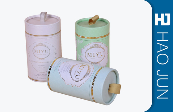 Luxury Design Cardboard Round Candle Boxes Candle Gift Tube Packaging