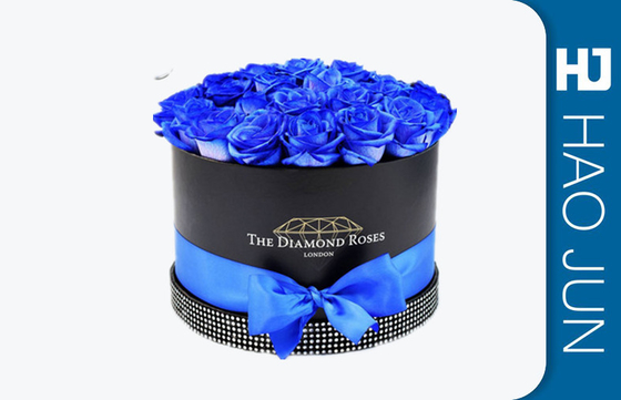 China Gift Package Cardboard Flower Boxes For Blue Rose , Eco Friendly factory