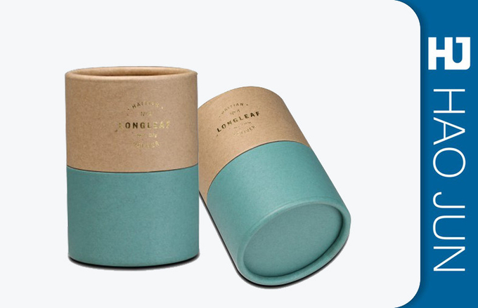 Customized Eco Printed Cardboard Tubes Recyclable Rolled Lids For Gift