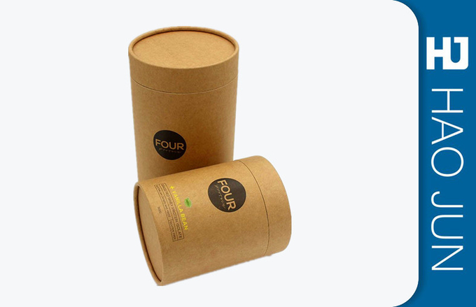 Full Color Handmade Cardboard Round Boxes With Varnishing / Glossy Surface