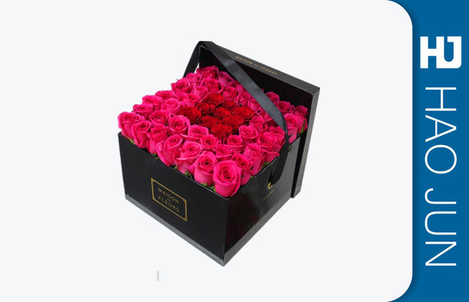 2017 Heartshaped Beautiful Paper Gift Box Cardboard Flower Boxes With Pvc Window
