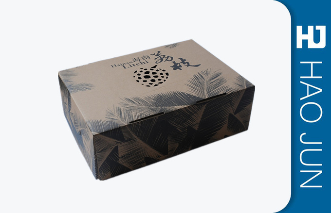 Corrugated Packing Carton Boxes / Square Custom Packaging Boxes
