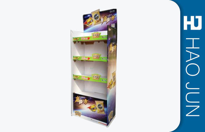 Supermarket Cardboard Advertising Stand , Cardboard Store Display For Bread