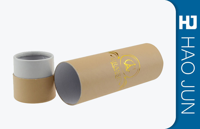Brown Kraft Cardboard Cylinder Tubes For Glass Bottle Shipping , Eco Friendly